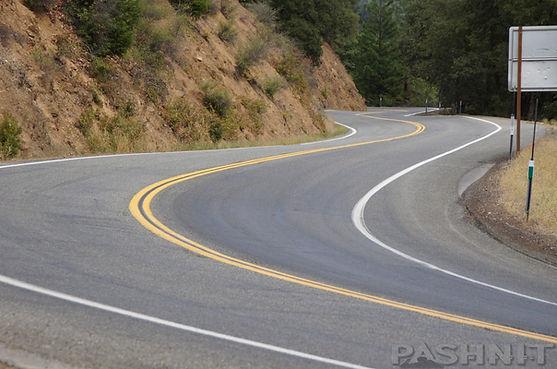 Highway 3 Hayfork Pass, California near Hwy 36