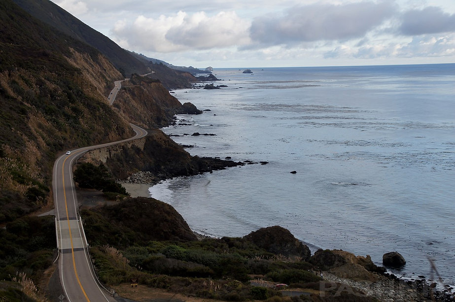 Highway 1 California Big Sur Coast viewed from Nacimiento Rd