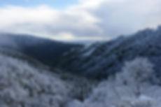 Snowy view of Pacific Ocean on Nacimiento Rd | California Big Sur Coastline