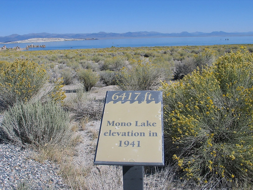 Mono Lake elevation in 1941