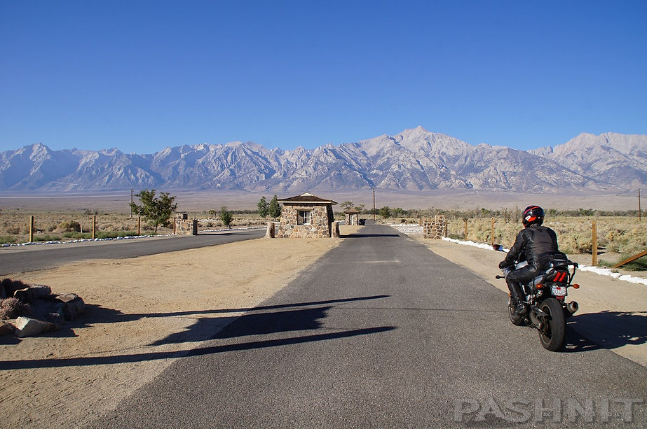 Entrance to Manzanar War Relocation Center