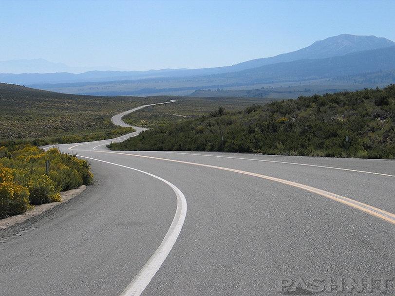 Highway 120 at 8139 ft Sagehen Summit