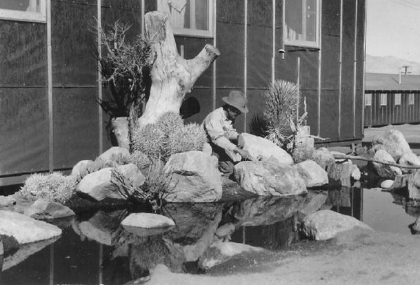 Internees created ornate Japanese gardens at Manzanar
