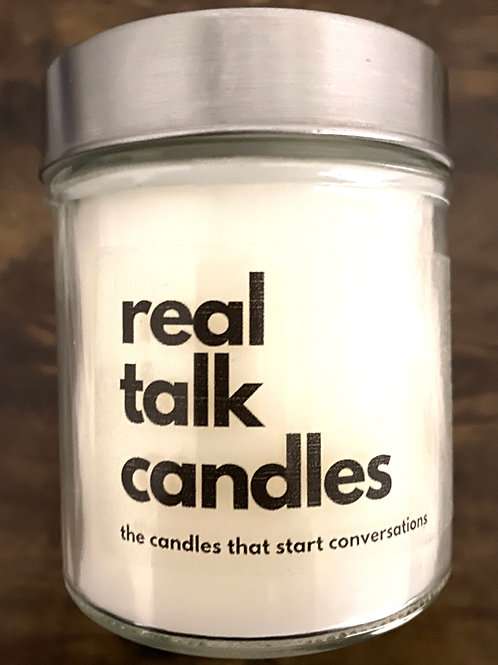 Real Talk Candle Label