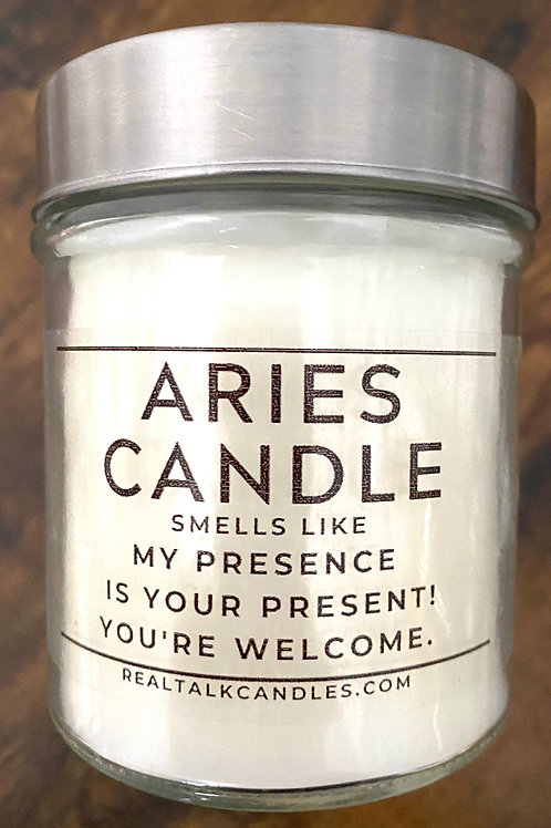 Aries Candle - My Presence is your present!