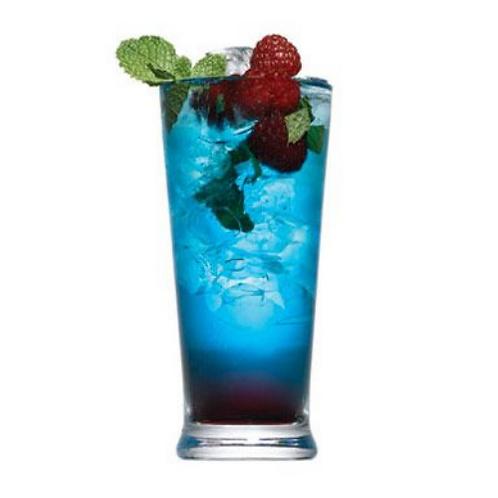 Raspberry Blue Mojito