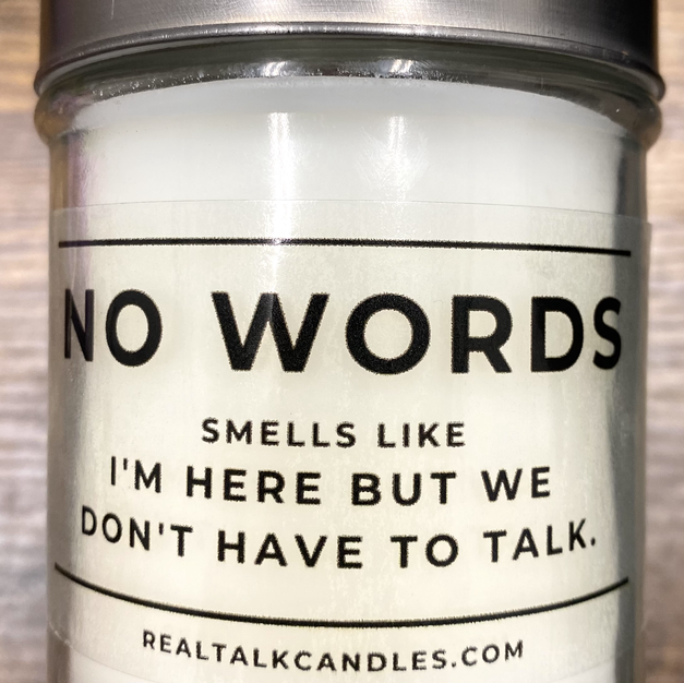 NO WORDS CANDLE