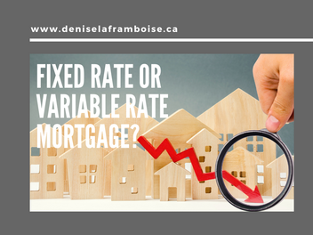 Fixed rate or Variable rate mortgage?