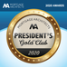 Gold Club for 2020 from Mortgage Architects