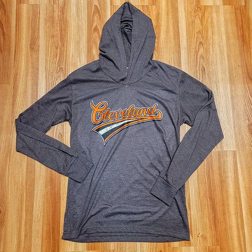 Cleveland Script Hooded Longsleeve T shirt