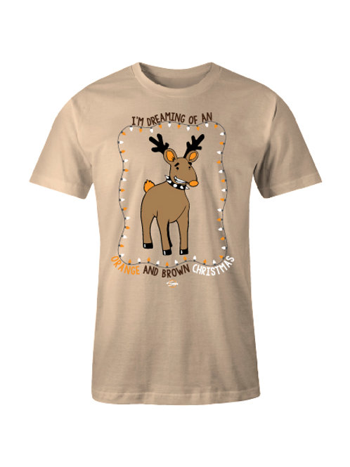 Dreaming of an Orange and Brown Christmas Tee