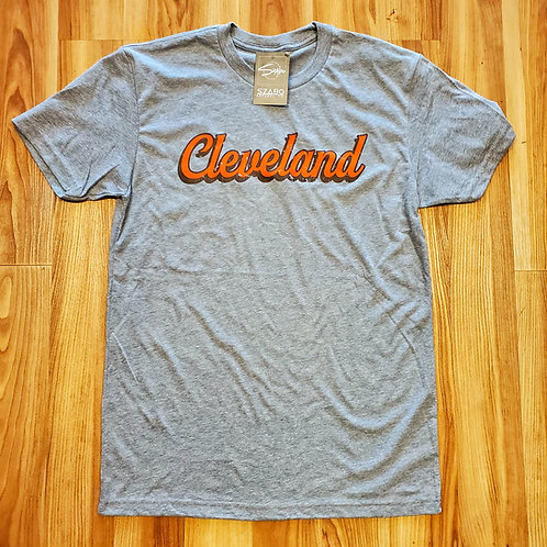 Orange and Brown Cleveland T shirt