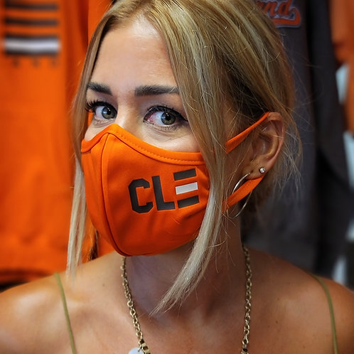 Orange and Brown CLE Facemask
