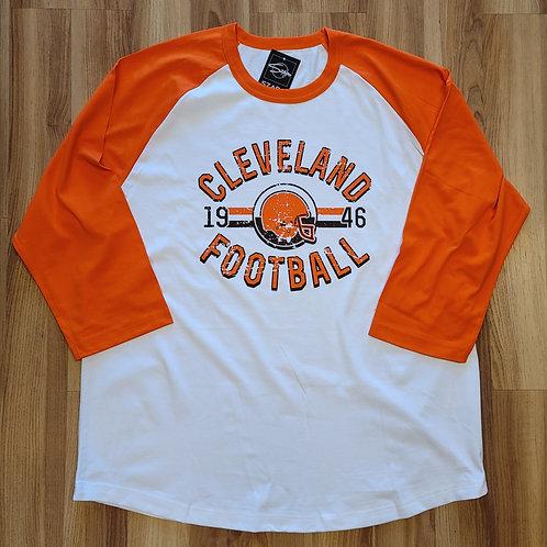 Old School Cleveland Football Raglan
