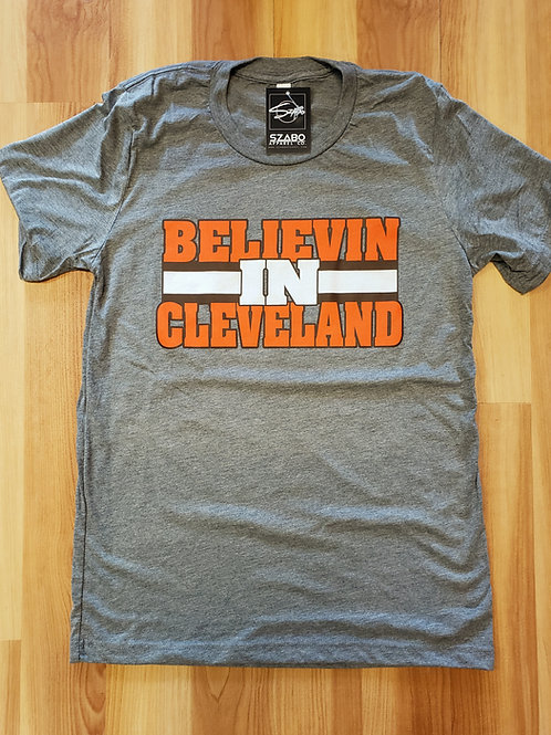 Believin in Cleveland T shirt