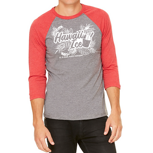 Hawaii Ice Raglan T shirt