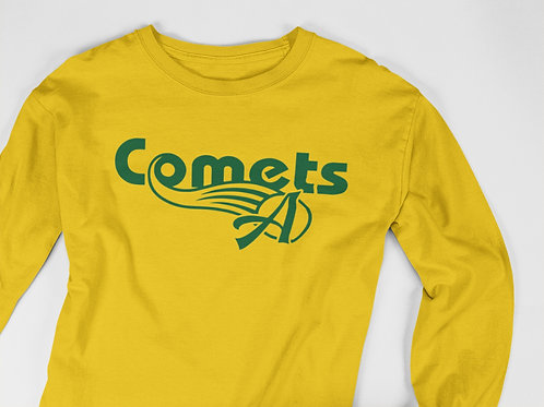 Retro Comets Unisex Long SleeveT shirt