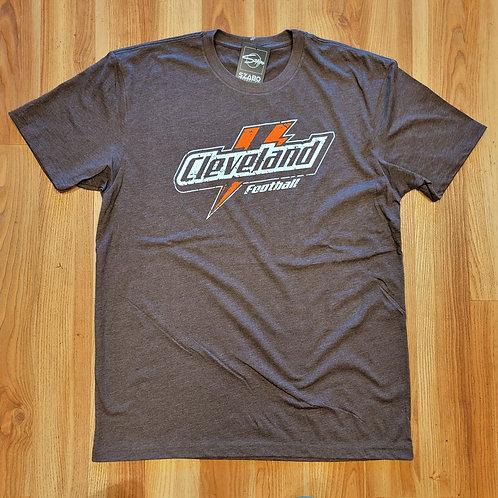Cleveland Football Lightning Bolt T shirt