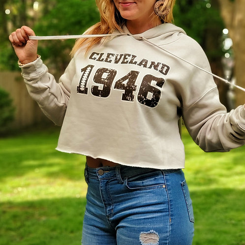 Cleveland 1946 Cropped hoodie