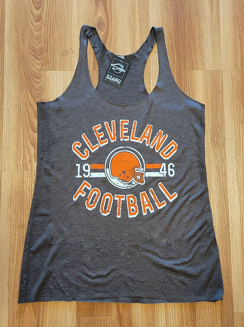 Ladies Old School Cleveland Football  Tank