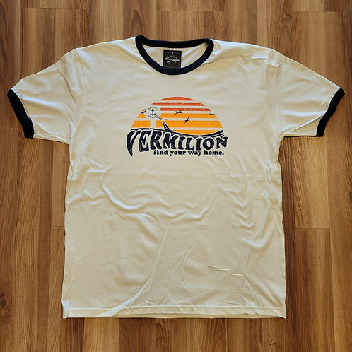 Vermilion Sunset Ringer T shirt