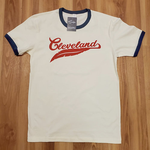 Cleveland Feather Ringer T shirt