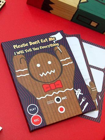 Recorder Card - Gingerbread Man