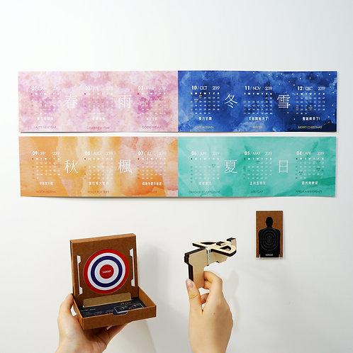 Idea Rubberband Calendar Set 2019