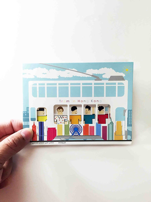 Postcard - HK Tram