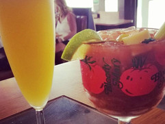 Mimosa and Bloody Mary - delish!