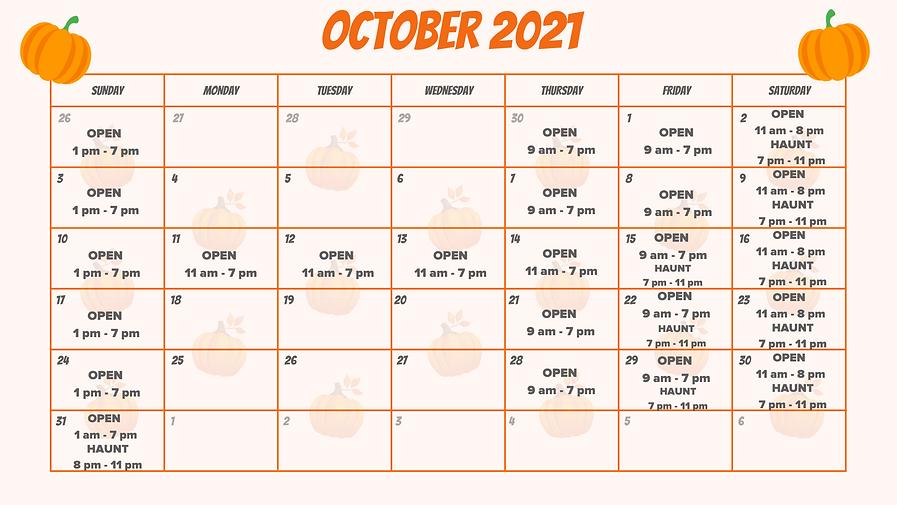 Orange Pumpkin Pattern Background October 2021 Calendar (5).png