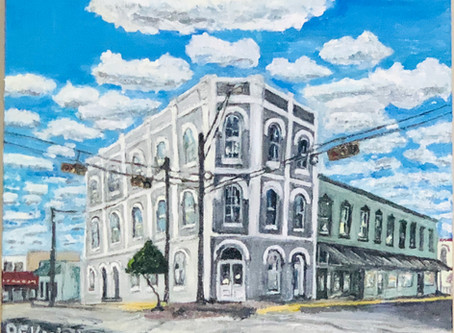 History in Oil - Bassett & Bassett Banking House- Brenham, Texas