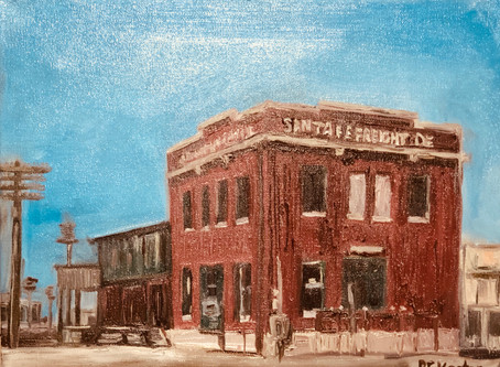 History in Oil - Santa Fe Depot
