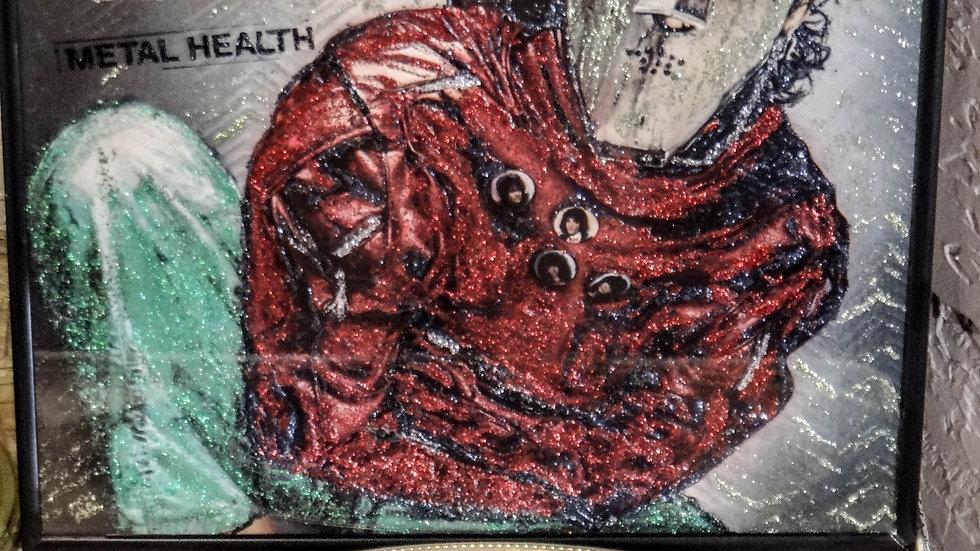 """Quiet Riot """"Metal Health""""  (Vintage) Glittered Album Art"""