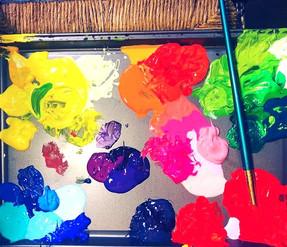 My current palette #art #color #acrylicp