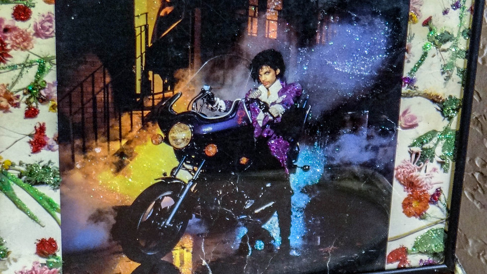 "Prince ""Purple Rain"" Glittered Vintage Album Art"