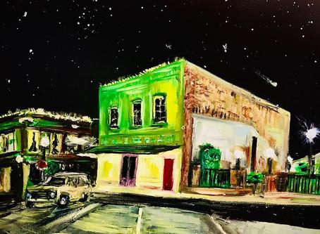 """History in Oil - """"Toubin Park"""" Brenham, Texas #TexasHistory"""