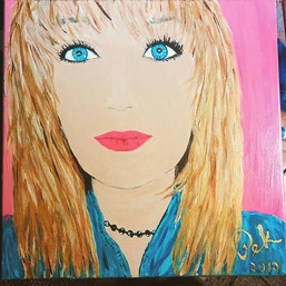 """Sydney 24x24"""" stretched canvas painted w"""