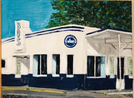 History in Oil - Brenham Bus Depot