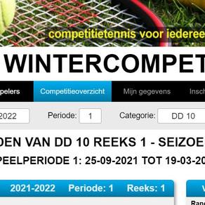 Planning Wintercompetitie 2021-2022
