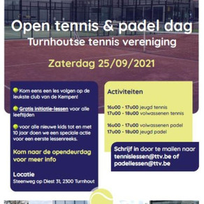 Opendag tennis & Padel