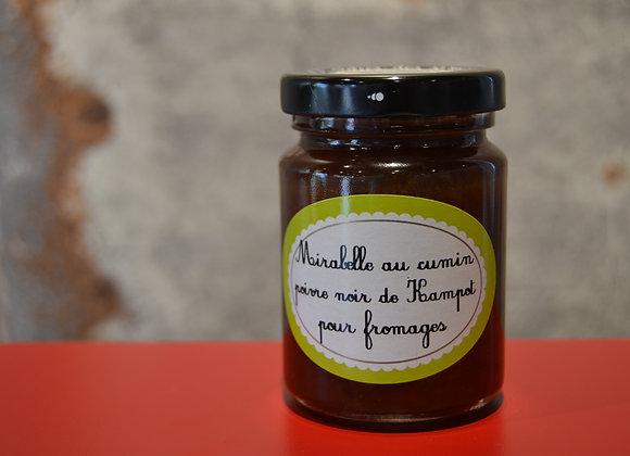 Mirabelle au cumin, poivre noir de Kampot pour fromages