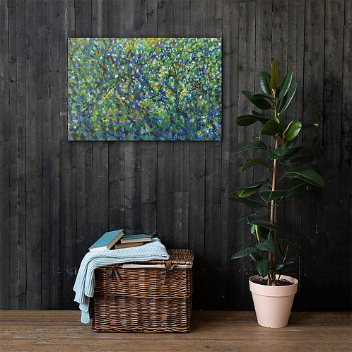 """Canvas Print  - """"The Forest"""" Abstract Painting 24 x 36"""" - Artist Phuong Vu Manh"""