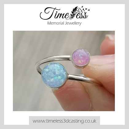 Adjustable Double Circle Ring