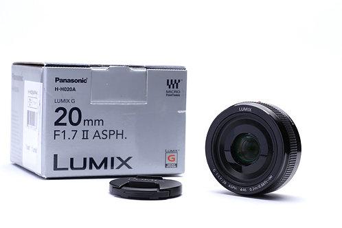 Panasonic Lumix G 20mm f1.7 II ASPH. Lens 20/1.7 MFT