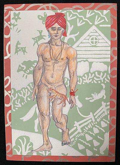 Indian trip pour père Noël jeune * 21 x 29,7 cm