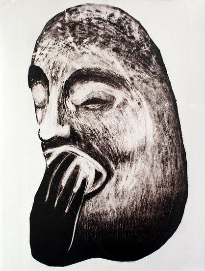 La pomme d'Adam * 39 x 57 cm * Lithographie * 2020