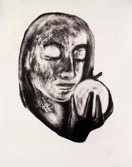La pomme d'Eve * 39 x 57 cm * Lithographie * 2020