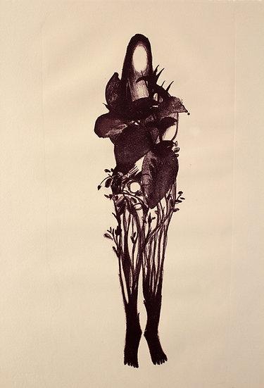 La métamorphose de Daphné * 39 x 57 cm * Lithographie * 2019