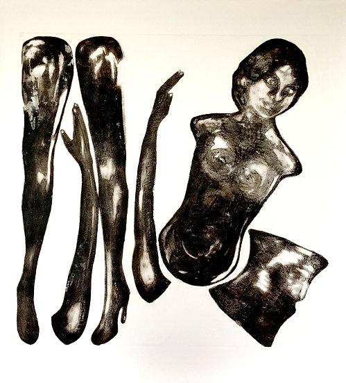 Disloquée. 2/4. 110 x 120 cm * Carborundum sur papier Johannot 400gr